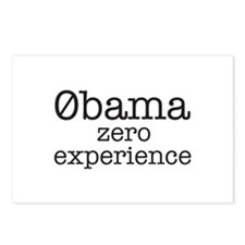 Obama Zero Experience Postcards (Package of 8)
