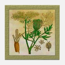 Wild Carrot Tile Coaster