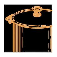Soup Pot (on black) Tile Coaster
