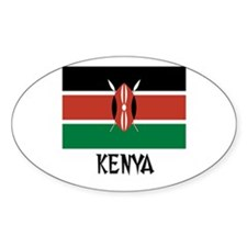 Kenya Flag Oval Decal