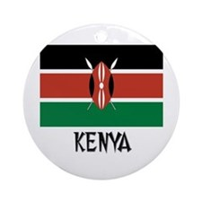 Kenya Flag Ornament (Round)