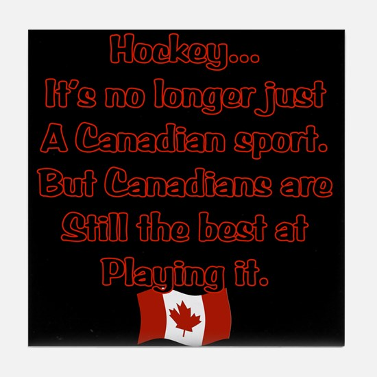 Canadian Sport Tile Coaster