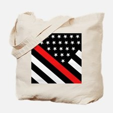 Firefighter Flag: Thin Red Line Tote Bag