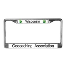 Cute Wisconsin geocaching License Plate Frame