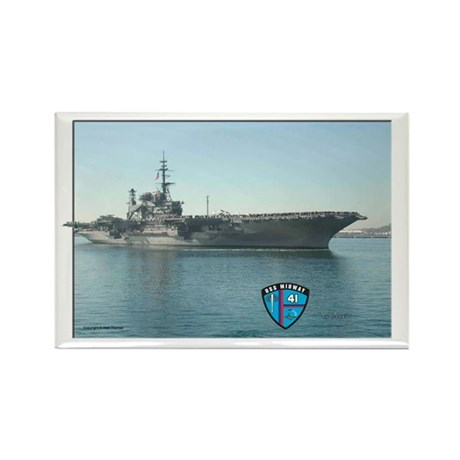USS Midway Rectangle Magnet (10 pack)