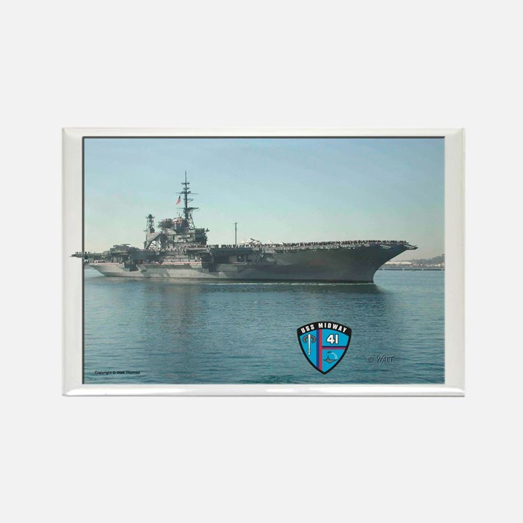 USS Midway Rectangle Magnet