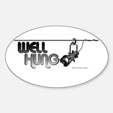 Well Hung Oval Decal