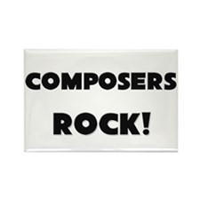 Composers ROCK Rectangle Magnet