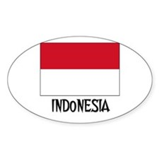 Indonesia Flag Oval Decal