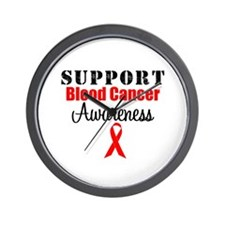 Support Blood Cancer Wall Clock