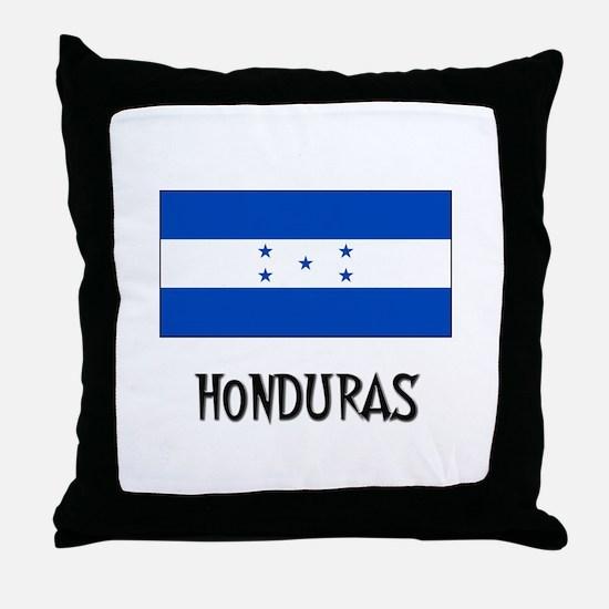 Honduras Flag Throw Pillow