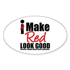 I Make Red Look Good Oval Sticker (10 pk)