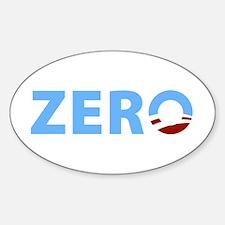 Anti Obama ZERO Oval Decal