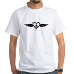 Heart Peace Wing in Black White T-Shirt