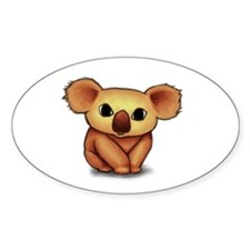 Cute Koala Oval Decal