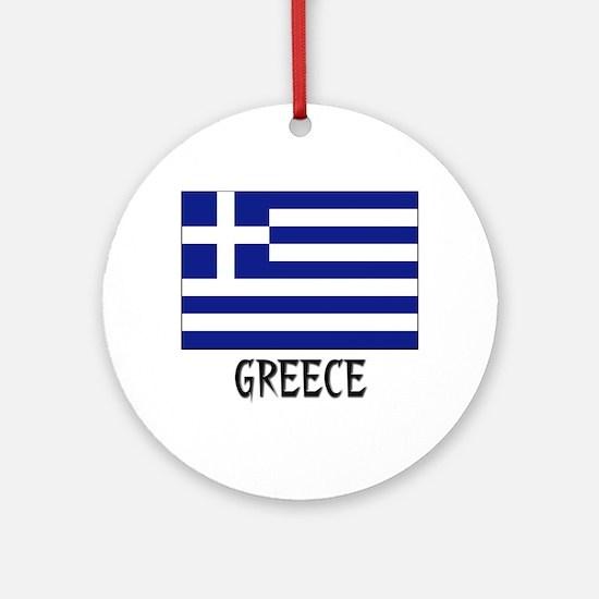 Greek Flag Christmas Ornament  CafePress