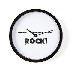 Community Development Workers ROCK Wall Clock