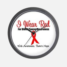 Blood Cancer Red Ribbon Wall Clock