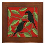 Two Crows Framed Tile