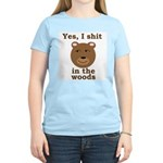 Does a bear shit in the woods? Women's Pink T-Shir