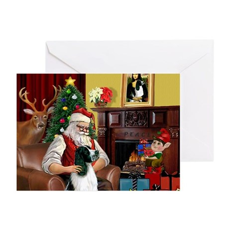 Santa's English Springer Greeting Cards (Pk of 10)