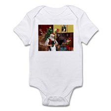 Santa's English Springer Infant Bodysuit