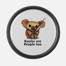 Koalas are People too Large Wall Clock