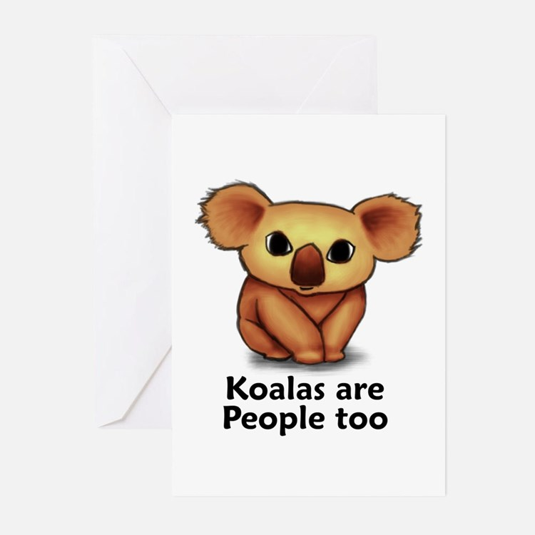 Koalas are People too Greeting Cards (Pk of 20)