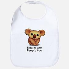Koalas are People too Bib