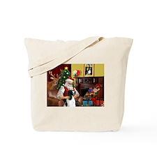 Santa's English Springer Tote Bag