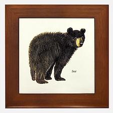Black Bear Framed Tile