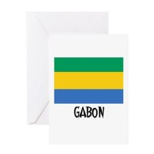 Gabon Flag Greeting Card