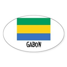 Gabon Flag Oval Decal