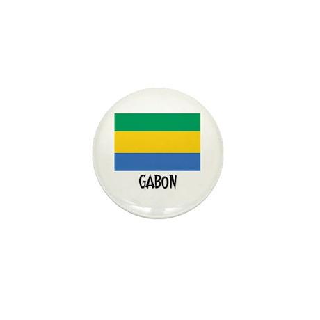 Gabon Flag Mini Button