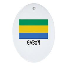 Gabon Flag Oval Ornament