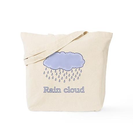 Cute Rain Cloud Picture Tote Bag
