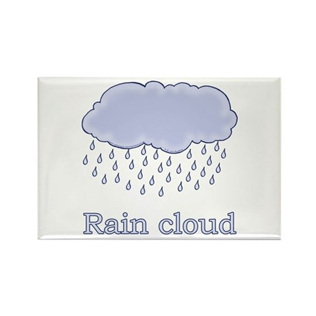 Cute Rain Cloud Picture Rectangle Magnet (10 pack)