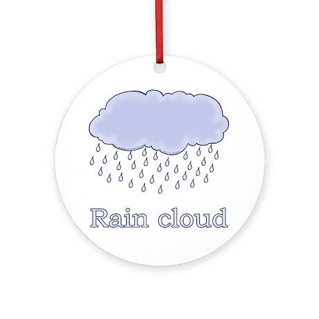 Cute Rain Cloud Picture Ornament (Round)