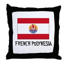 French Polynesia Flag Throw Pillow