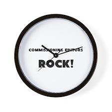 Commissioning Editors ROCK Wall Clock