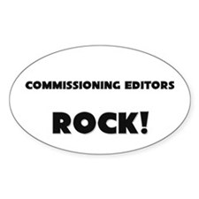 Commissioning Editors ROCK Oval Sticker