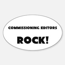 Commissioning Editors ROCK Oval Decal