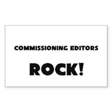 Commissioning Editors ROCK Rectangle Sticker