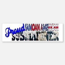 Proud Samoan American Submariner Bumper Bumper Bumper Sticker