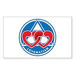 LOVEMATISM Rectangle Sticker 50 pk)