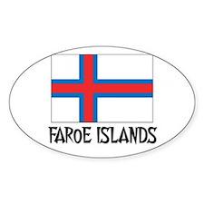 Faroe Islands Flag Oval Decal