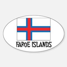 Faroe Islands Flag Oval Decal