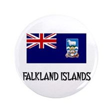 "Falkland Islands Flag 3.5"" Button"