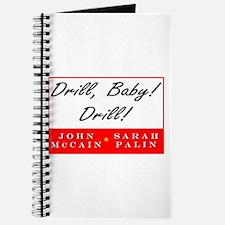 McCain Palin Drill Baby Drill Journal