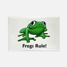 Frogs Rule! Rectangle Magnet